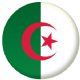 Algeria Country Flag 25mm Keyring